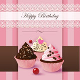 Happy Birthday cupcake Stock Photo
