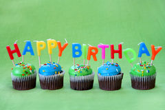 Happy Birthday Cupcakes Royalty Free Stock Image