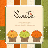 Happy Birthday cupcakes Royalty Free Stock Photos