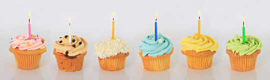 Happy birthday cupcakes. Royalty Free Stock Photos
