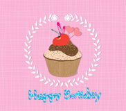 Happy Birthday cupcakes Stock Images
