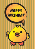 Happy Birthday Cute Chick Royalty Free Stock Image