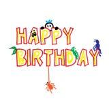 Happy Birthday Cute Word Royalty Free Stock Photo