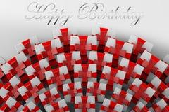 HAPPY BIRTHDAY 3D Gift Mountain vector illustration