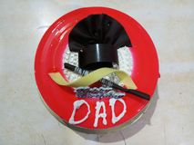 Happy birthday dad. Cake for your dad wishing him happiestbirthday royalty free stock photos