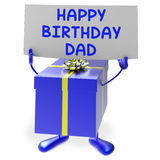 Happy Birthday Dad Means Presents for Father Royalty Free Stock Images