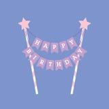 Happy birthday decoration. Cake topper