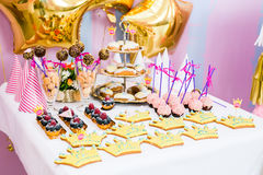 Happy birthday decorations Stock Photography
