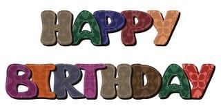 Happy birthday dedication on white Royalty Free Stock Image