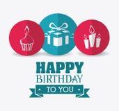 Happy birthday design. Happy birthday colorful card design,  illustration Royalty Free Stock Image