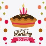 Happy birthday design. Happy birthday colorful card design,  illustration Stock Photography