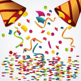 Happy birthday design. confetti icon. celebration concept. Happy birthday concept with icon design, vector illustration 10 eps graphic Stock Photography