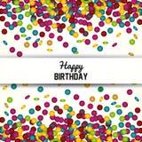 Happy birthday design. confetti icon. celebration concept. Happy birthday concept with icon design, vector illustration 10 eps graphic Stock Image