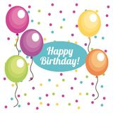 Happy birthday. Design,  illustration eps10 graphic Royalty Free Stock Photo