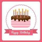 Happy birthday. Design,  illustration eps10 graphic Royalty Free Stock Photography