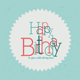 Happy birthday design Stock Photography