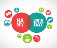 Happy birthday design. Over gray background vector illustration Royalty Free Stock Photo