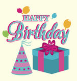 Happy birthday design Royalty Free Stock Photo