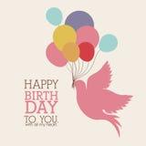 Happy birthday design Royalty Free Stock Image