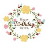 Happy birthday design Stock Images