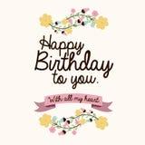 Happy birthday design Stock Image