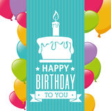Happy Birthday design, vector illustration. Royalty Free Stock Images