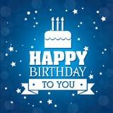 Happy Birthday design, vector illustration. vector illustration