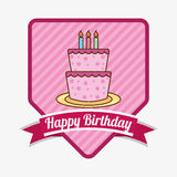 Happy birthday. Design, vector illustration eps10 graphic Royalty Free Stock Image