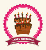 Happy birthday. Design, vector illustration eps10 graphic Stock Images