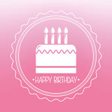Happy birthday. Design, vector illustration eps10 graphic Royalty Free Stock Images