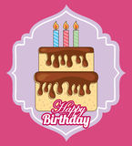 Happy birthday. Design, vector illustration eps10 graphic Royalty Free Stock Photo