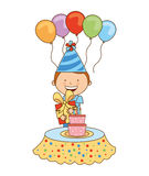 Happy birthday. Design, vector illustration eps10 graphic Stock Image