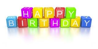 Happy birthday dice. An image of colorful happy birthday dice Stock Photo