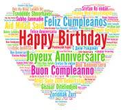 grattis på alla språk Happy Birthday Cloud Word Stock Illustrations – 164 Happy Birthday  grattis på alla språk