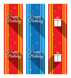 Happy Birthday - duct tape ribbons Royalty Free Stock Photos