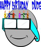 Happy birthday dude Royalty Free Stock Photos