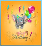 Happy Birthday Elephant Royalty Free Stock Photography
