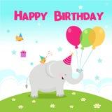 Happy birthday Elephant Royalty Free Stock Photo