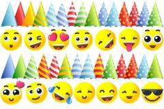 Happy Birthday Emoji Icons Royalty Free Stock Images