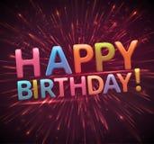 Happy birthday, eps 10. Happy birthday background, eps 10 Stock Image