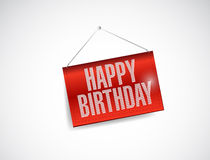 Happy birthday fabric textured hanging banner Royalty Free Stock Photos