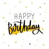 Happy Birthday. Fashionable calligraphy. Stock Photography