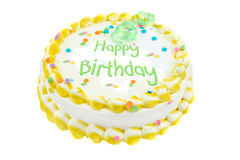 Happy birthday festive cake stock image