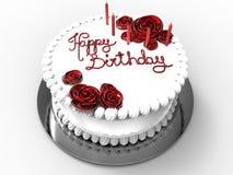 Happy birthday festive cake Royalty Free Stock Images