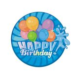 Happy Birthday. Festive Happy Birthday with colorful balloons group Stock Images