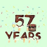 Happy Birthday fifty seven 57 year Royalty Free Stock Image