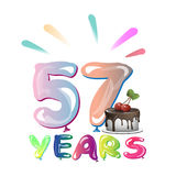 Happy Birthday fifty seven 57 year Stock Photo