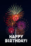 Happy Birthday Fireworks Stock Photos