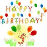 Happy Birthday five Stock Photos