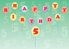 Happy birthday five years Royalty Free Stock Photo